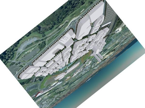 Albany city plan mock-up